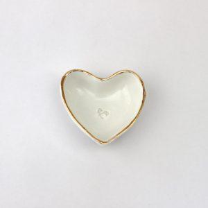 Luxe Heart Dish Gold Rim