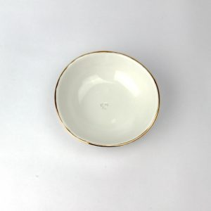 Luxe Large Dish Gold Rim