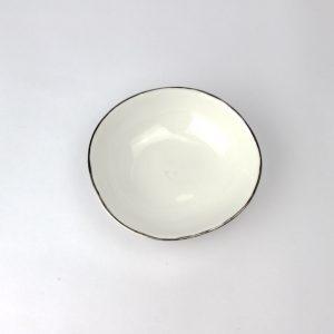 Luxe Large Dish Platinum Rim