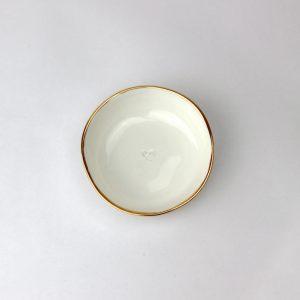 Luxe Medium Dish Gold Rim