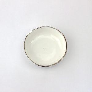 Luxe Medium Dish Platinum Rim
