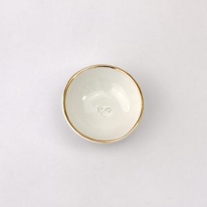 Luxe Small Dish Gold Rim