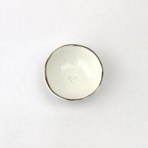 Luxe Small Dish Platinum Rim
