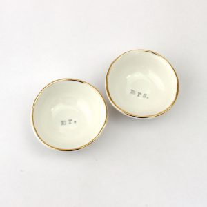Luxe Wedding Set Dishes Gold Rim