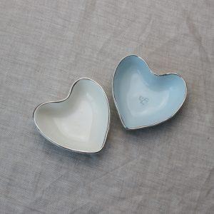 Luxe Heart Dish Platinum Rim
